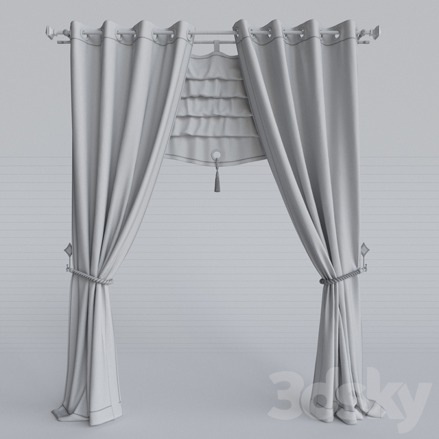 The curtain in the nursery girls 1