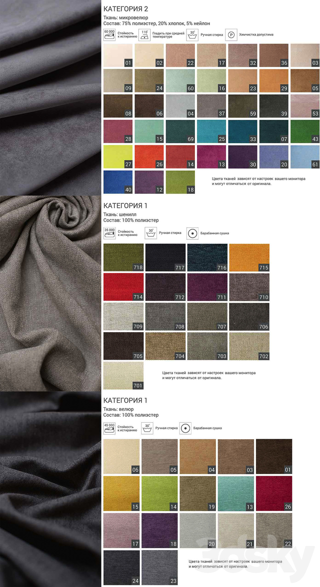 The Idea Materials Birch & Fabric (a palette of fabrics and toning of a birch)