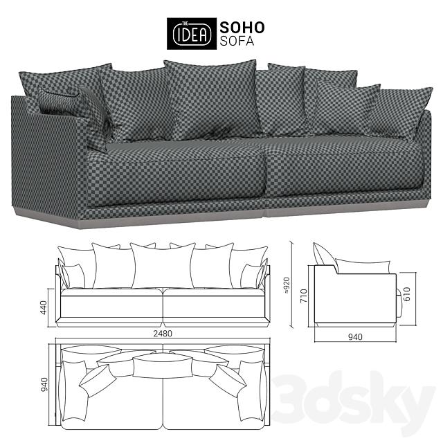 The IDEA Modular Sofa SOHO (art 801-802)