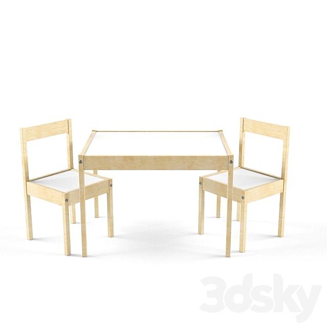 Models Table Chair Ikea Latt