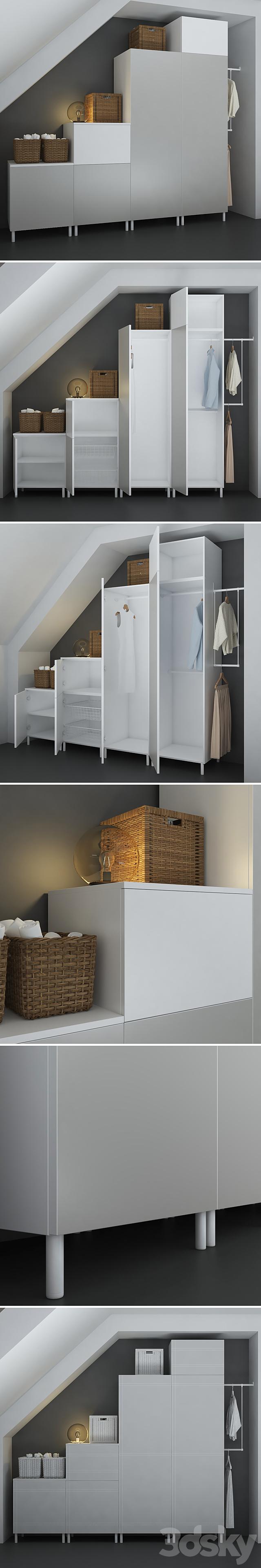 The combination of Ikea (Platsa) (designer).