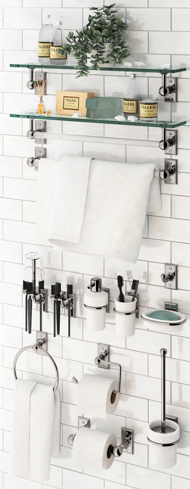 Bathroom accessories Nanzaquatic. Collections: Georgian, Moderne, Federal.