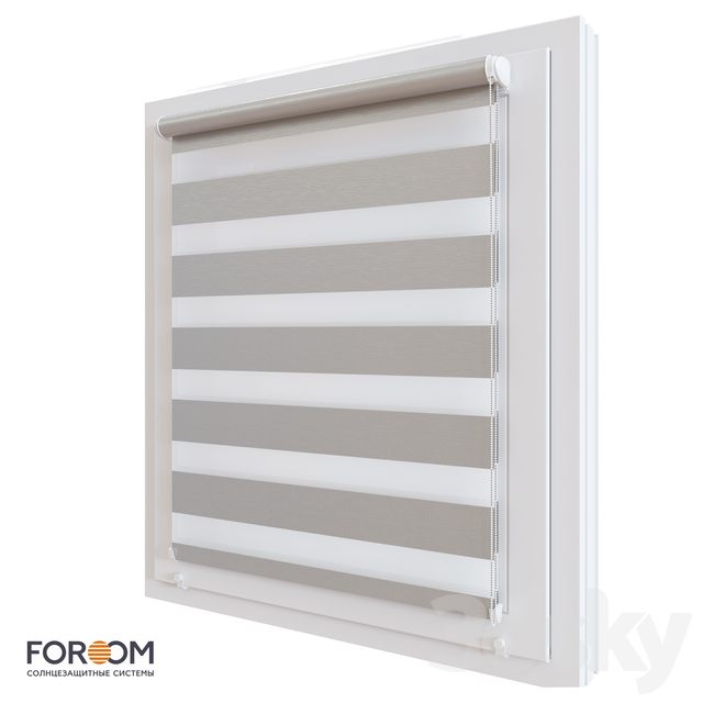 Rolling shutters INTEGRA SLIM DUO for installation on the sash window
