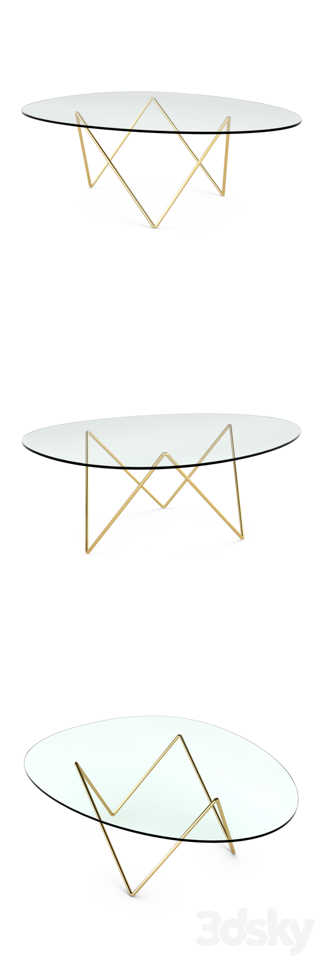 3d Models Table Gubi Pedrera Coffee Table