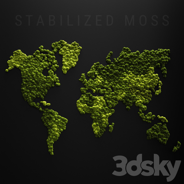 Stabilized moss - world map