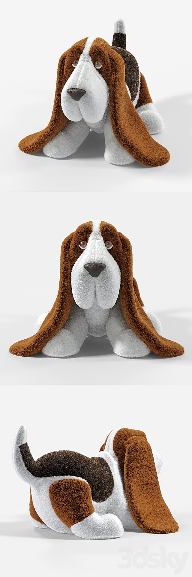 Plush Basset Hound (soft toy)
