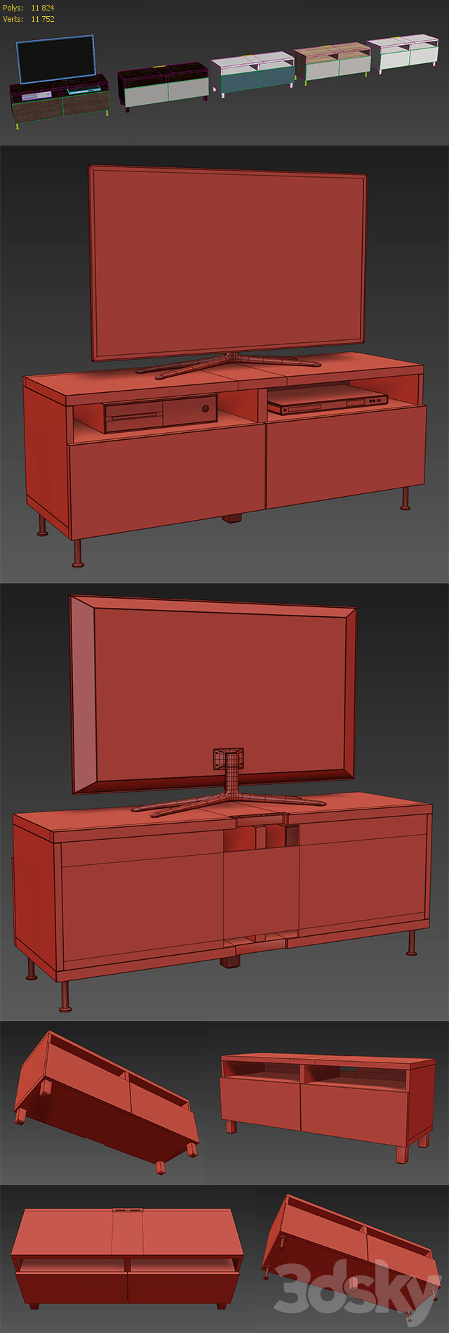 IKEA BESTA TV cabinet with drawers