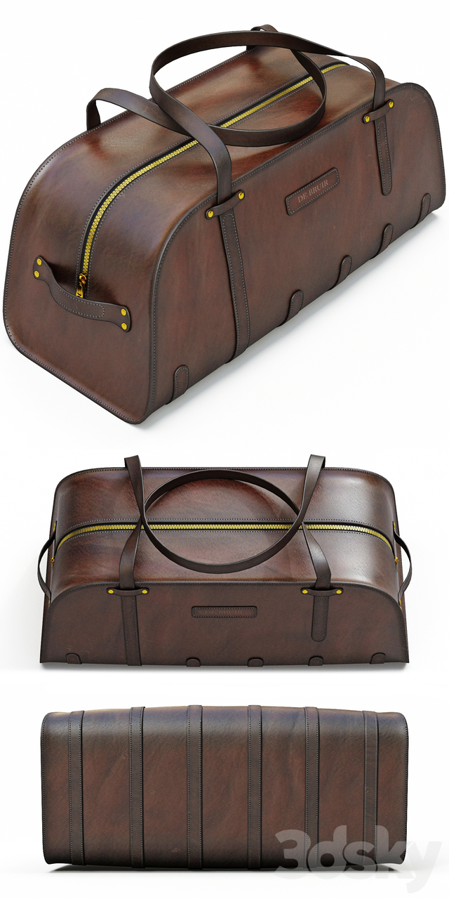 DE BRUIR Leather Sports Bag