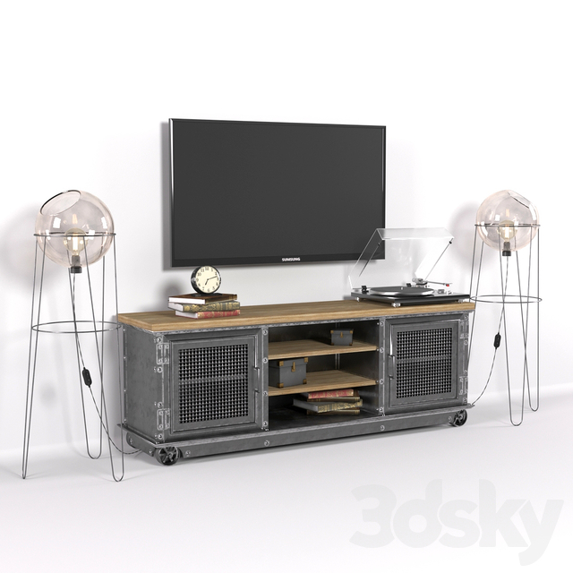 TV stand in loft style