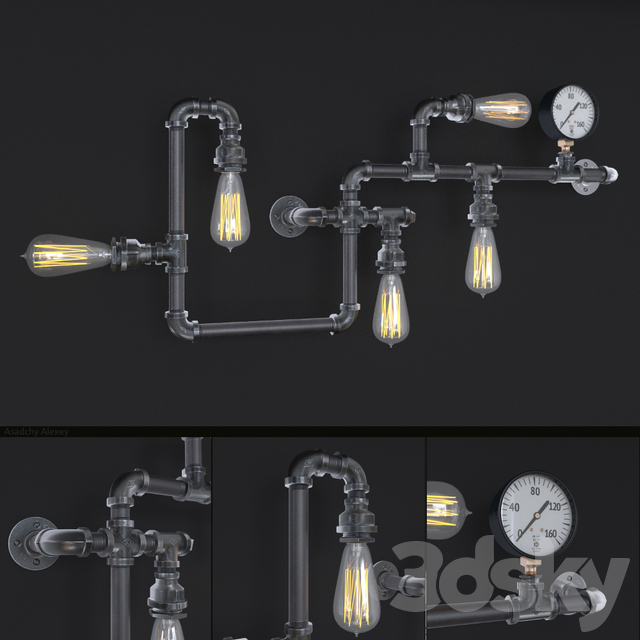 Industrial Wall Sconce 3