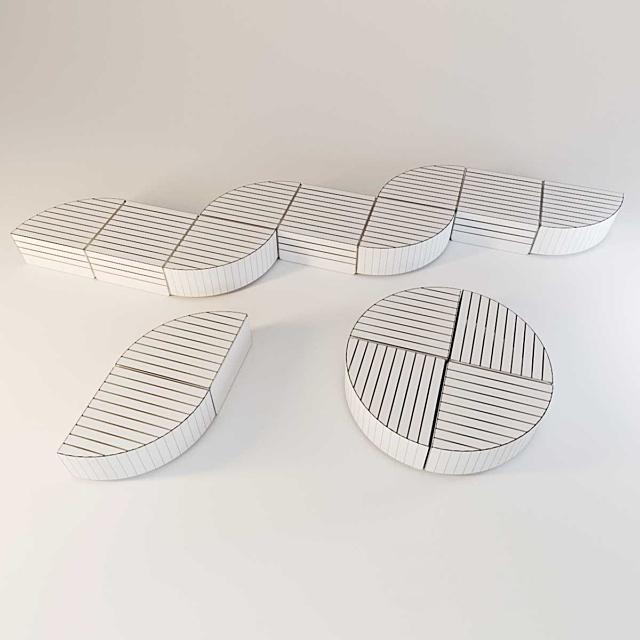 Zano pl orbit. Street furniture set