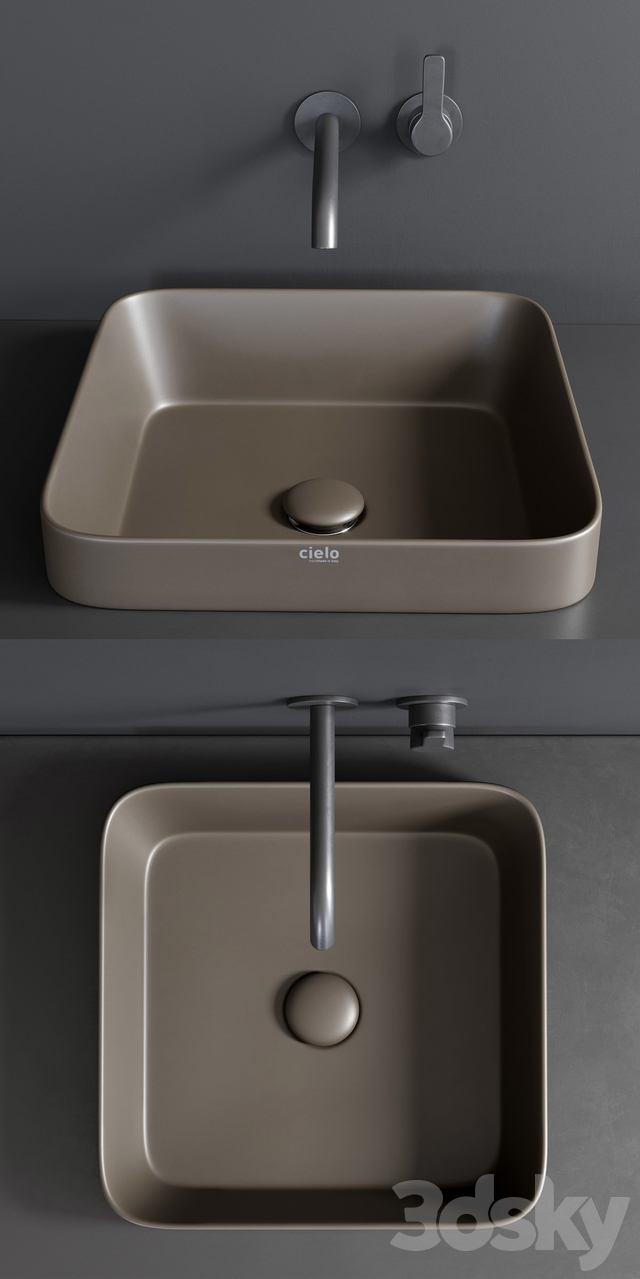 Ceramica Cielo Enjoy 40 Rectangular Washbasin