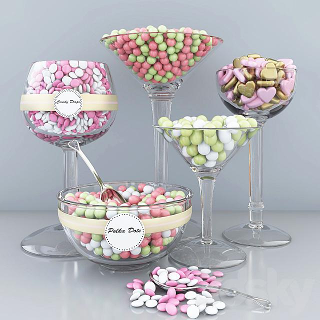 Polka dots candy bar