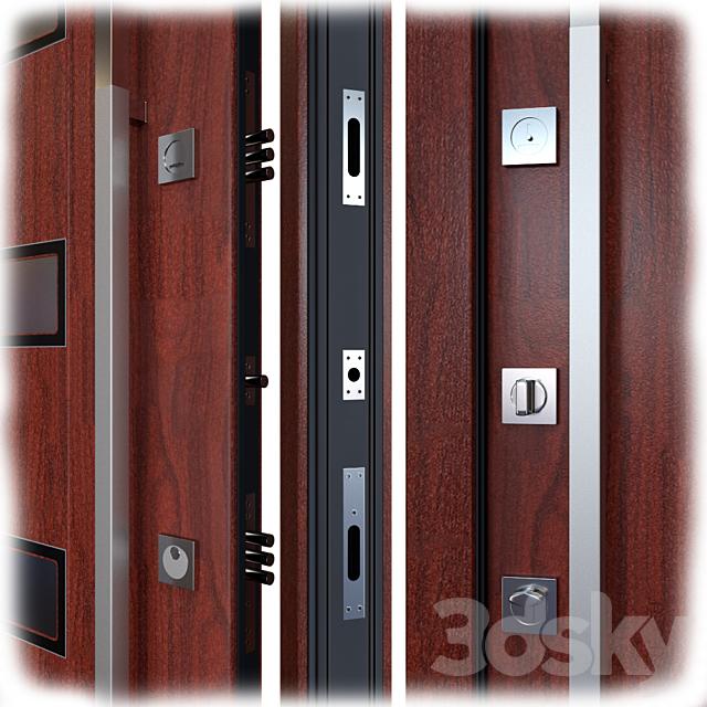 Entrance metal door Inox S-12 (Your Frame)