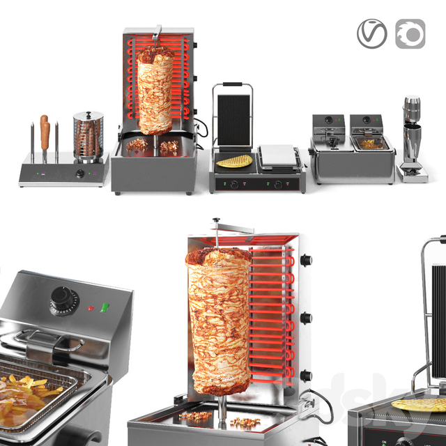 Equipment for Doner Cafe