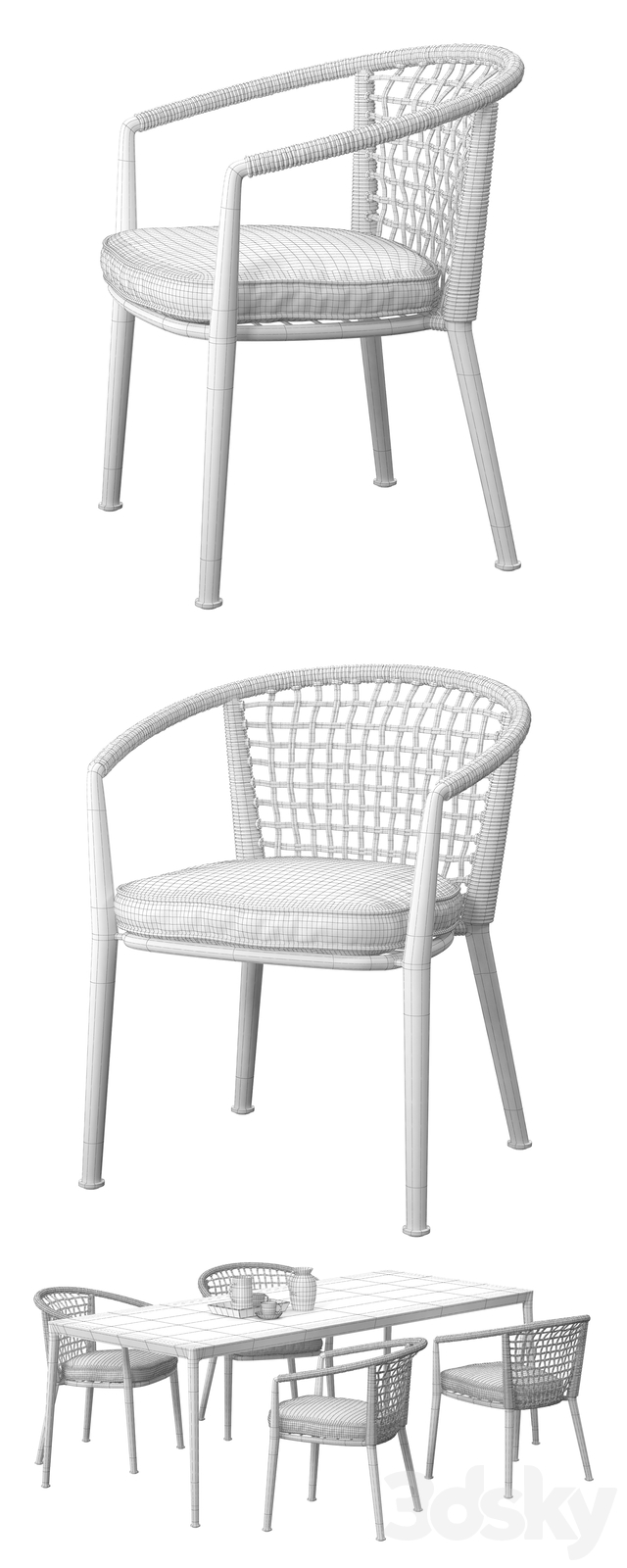 B & B Italia Outdoor ERICA '19 chairs set