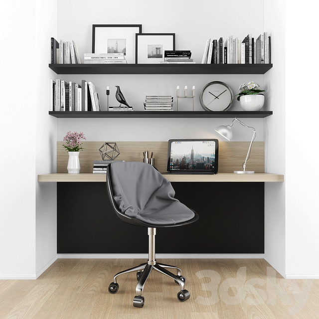 3d Models Office Furniture Workzone, B & B Furniture