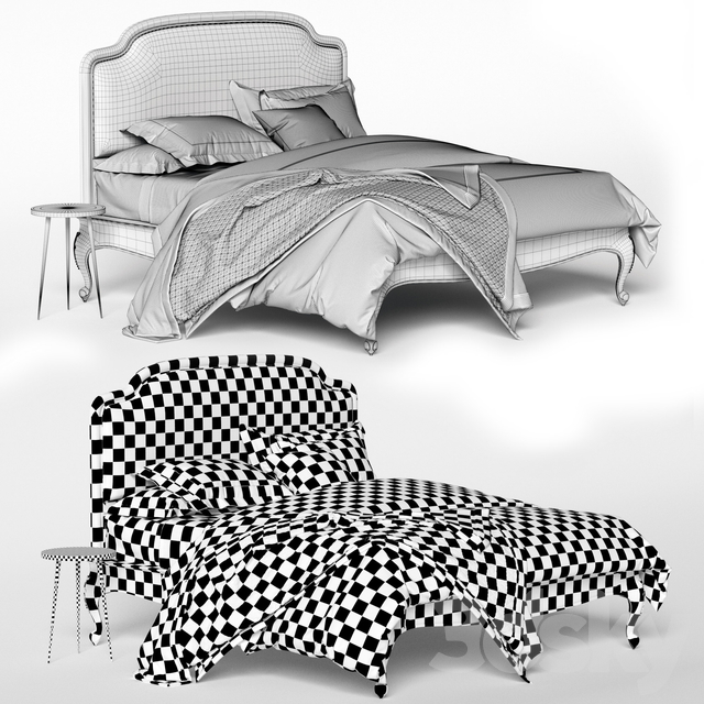 3d Models Bed Bed Pottery Barn Montclair Bed