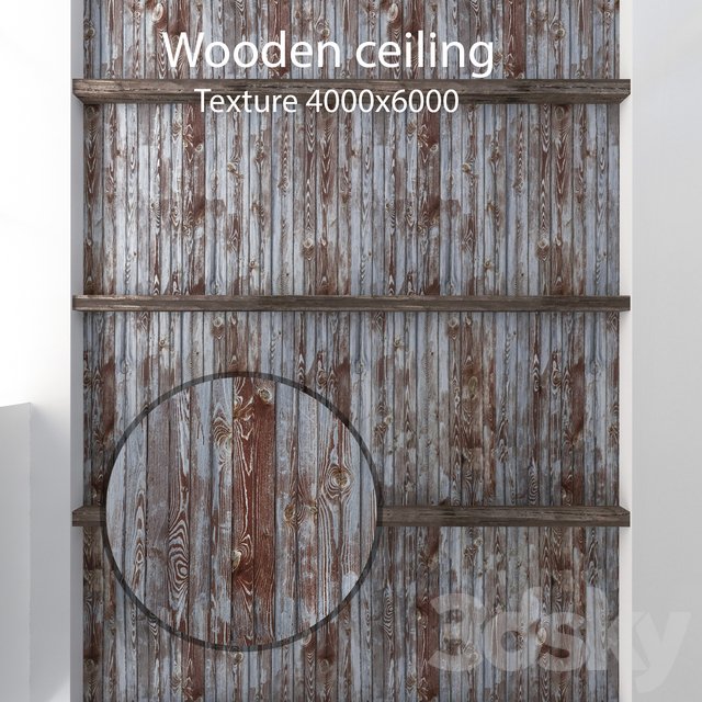 Wooden ceiling with beams 11