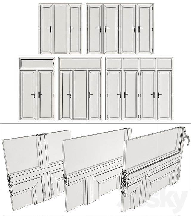 Stained aluminum doors / Stained aluminum doors