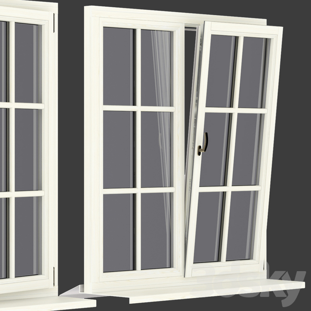 Wood - aluminum windows, view 05 part 01 set 06