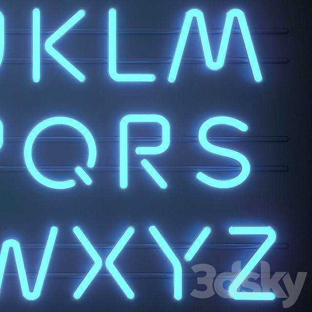 Light modules. Set 06. Neon Alphabet