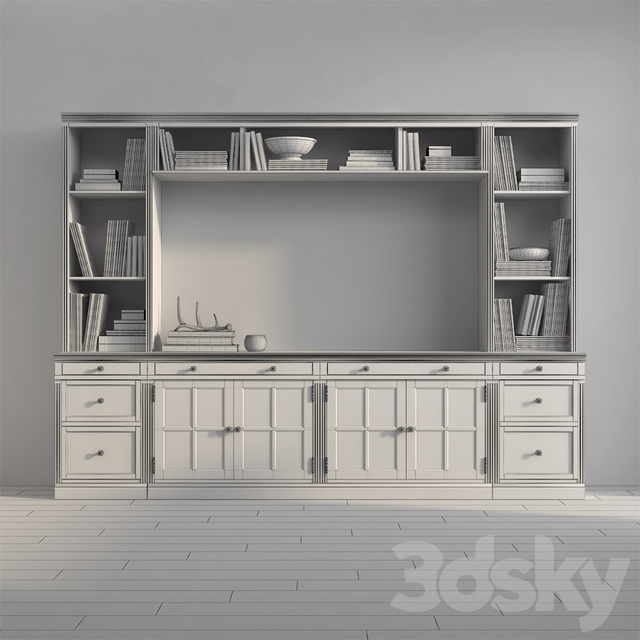 Pottery barn LIVINGSTON MEDIUM MEDIA SUITE WITH DRAWERS