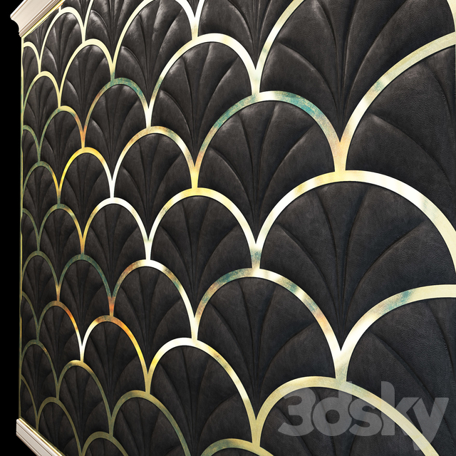 Soft, decorative, wall panel. Leather.