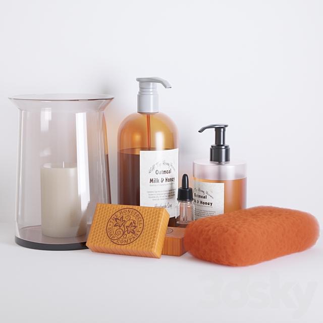 Bathroom honey decor