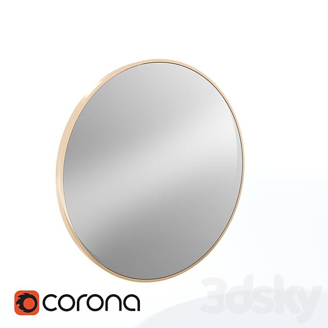 West elm metal framed mirror