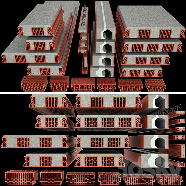 A set of ceramic blocks phoroterm, part II