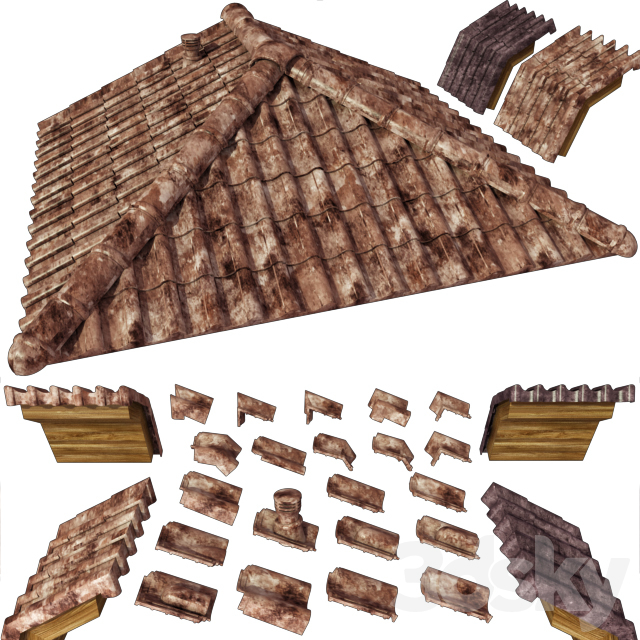 Ceramic tiles, additional elements of the roof