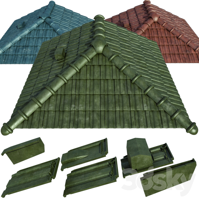 Ceramic tiles and roofing elements