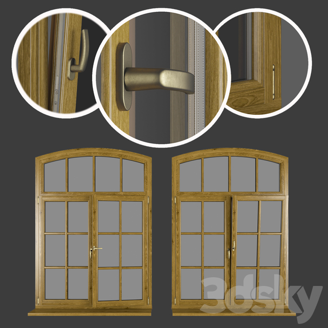 Wood - aluminum windows, view 05 part 02 set 08