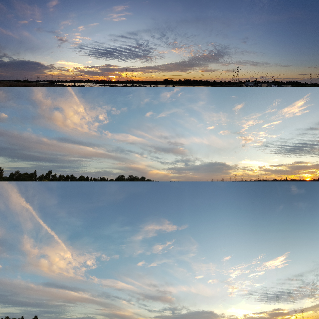 Panorama sky sunset 3