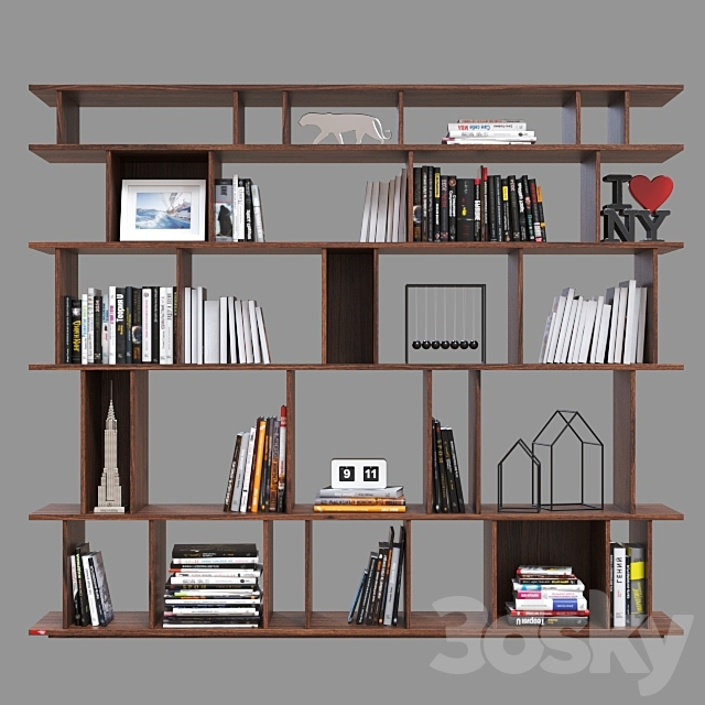 Double-sided shelving Cattelan italia Loft.