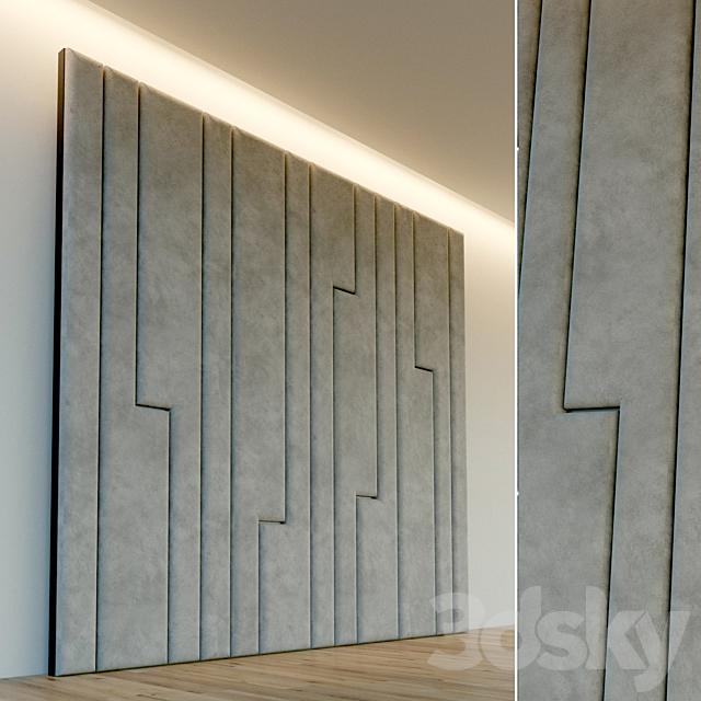 Decorative wall. Soft panel. 50