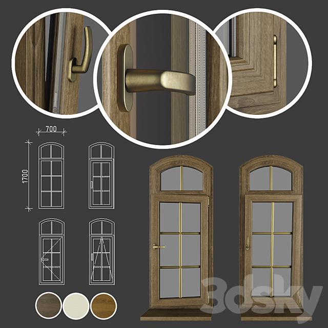 Wood - aluminum windows, view 04 part 02 set 03