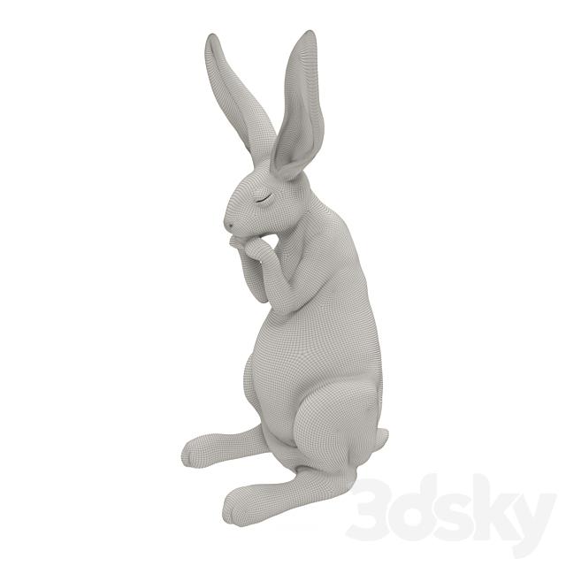 Figure Easter Bunny. Easter rabbit.