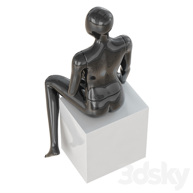 Seated Abstract Female Mannequin 13
