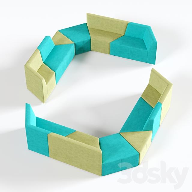 OM Sofa Origami 7-seater