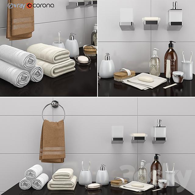 3d Models Bathroom Accessories Decorative Set For A Bathroom Set 36