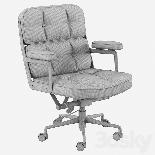 Eames Executive Lobby Chair Waxed