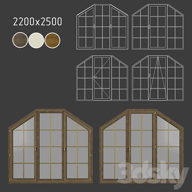 Wood - aluminum windows, view 04 part 03 set 10