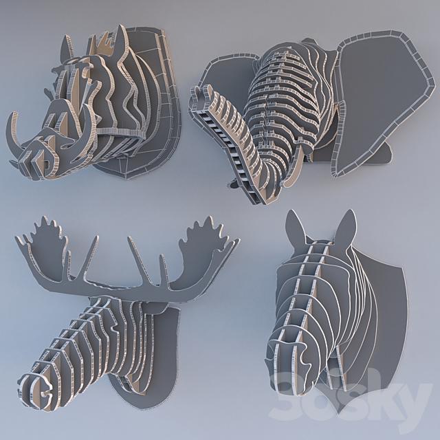 3D Puzzle Trophy Head Collection