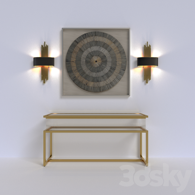 Seth console, panel, sconce