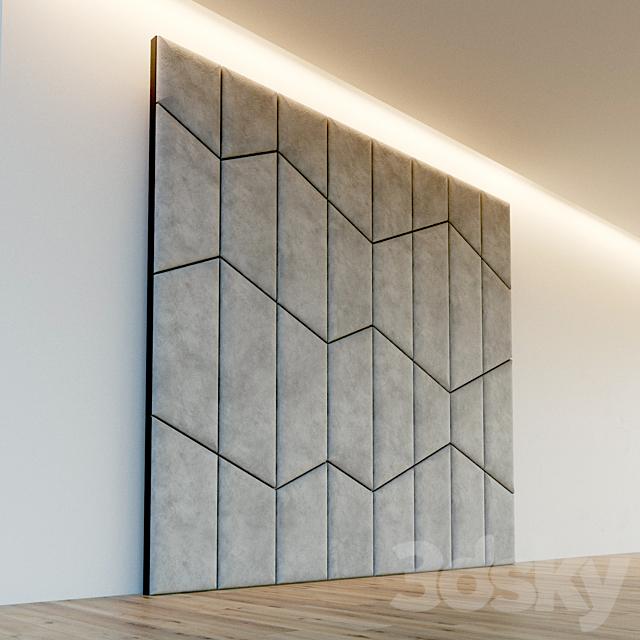 Decorative wall. Soft panel. 57