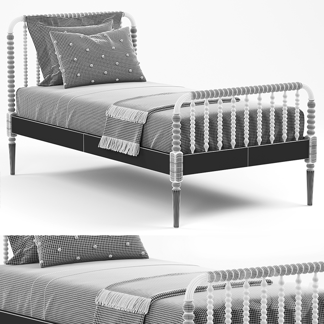 Crate & Barrel Jenny Lind Bed