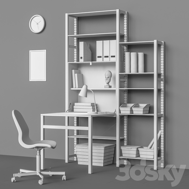Workplace set 8 (3 module options)