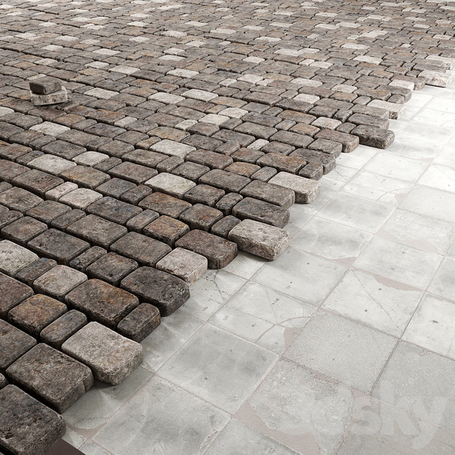Old stone paving / Old stone paving
